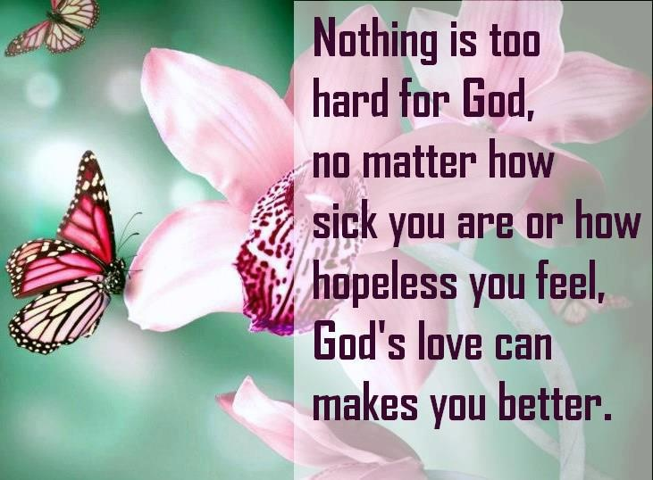 THERE'S NOTHING TOO HARD FOR GOD!